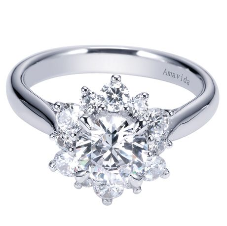 Floral Inspired Engagement Ring From Gabriel Co Flower Engagement Ring Shapes Halo Engagement Ring Sets Fashion Rings