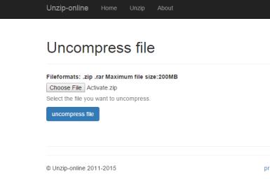 Unzip-Online Review: A Free Online RAR and ZIP File Extractor: Unzip