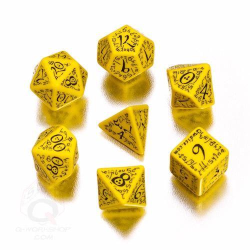 Dadi Q-Workshop Dragons Black /& Yellow Dice Set