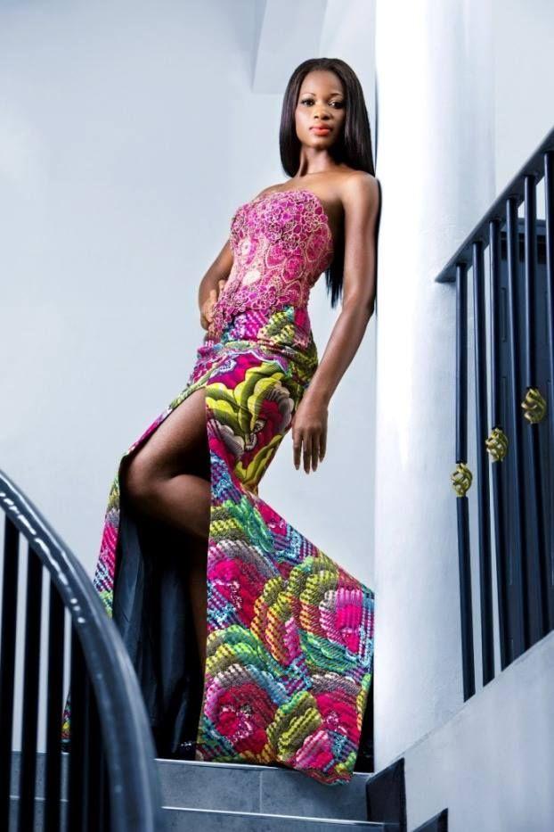 belle tenue en pagne et dentelle | Tenue africaine