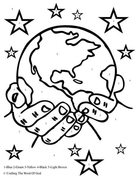 God The Creator Color By Number Day 1 Sunday School Coloring Pages Creation Coloring Pages Bible Coloring
