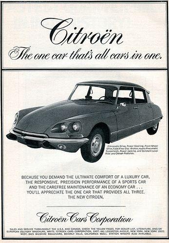1969 Citroen Advertising Road Track June 1969 Citroen Ds Citroen Car Automobile Advertising