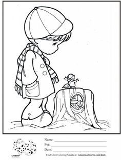 kids coloring page precious moments groundhog day coloring sheet - Groundhog Day Coloring Pages Kids