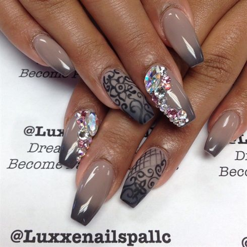 Mood Changing Coffin Nails by AmazingM from Nail Art Gallery - Mood+Changing+Coffin+Nails+by+AmazingM+-+Nail+Art+Gallery+