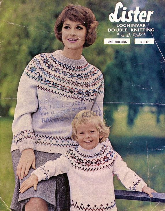 44aadf723 Would love to make this. I m not convinced mine would look the same tho...  1960 s Fair Isle jumper knitting pattern. VintagePatternCo