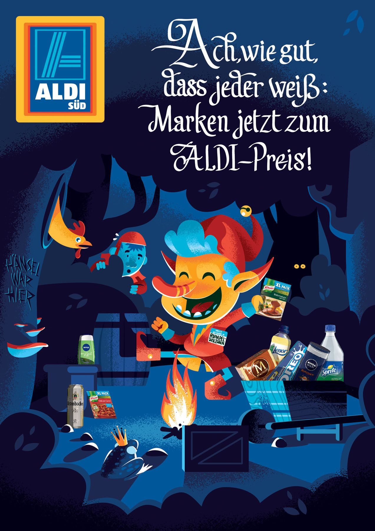 Revolution Illustrierte Werbekampagne Von Aldi Süd