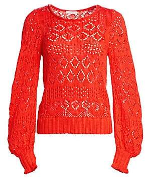 e1d7c5f8 See by Chloe Women's Cotton Lacey Eyelet Knit Sweater | Products in ...