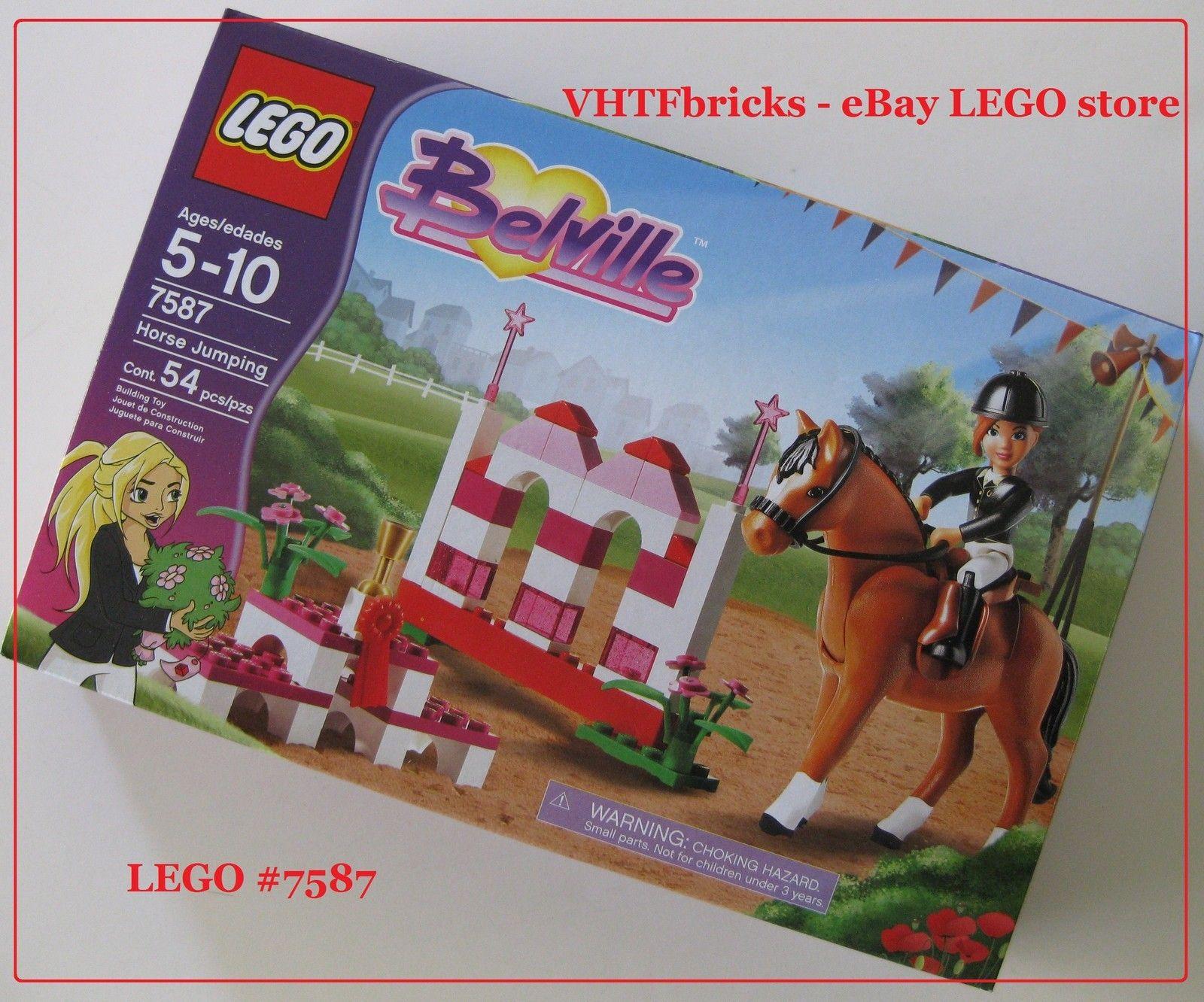 lego belville 7587 horse jumping set for girls friends sealed new vhtf item 2895