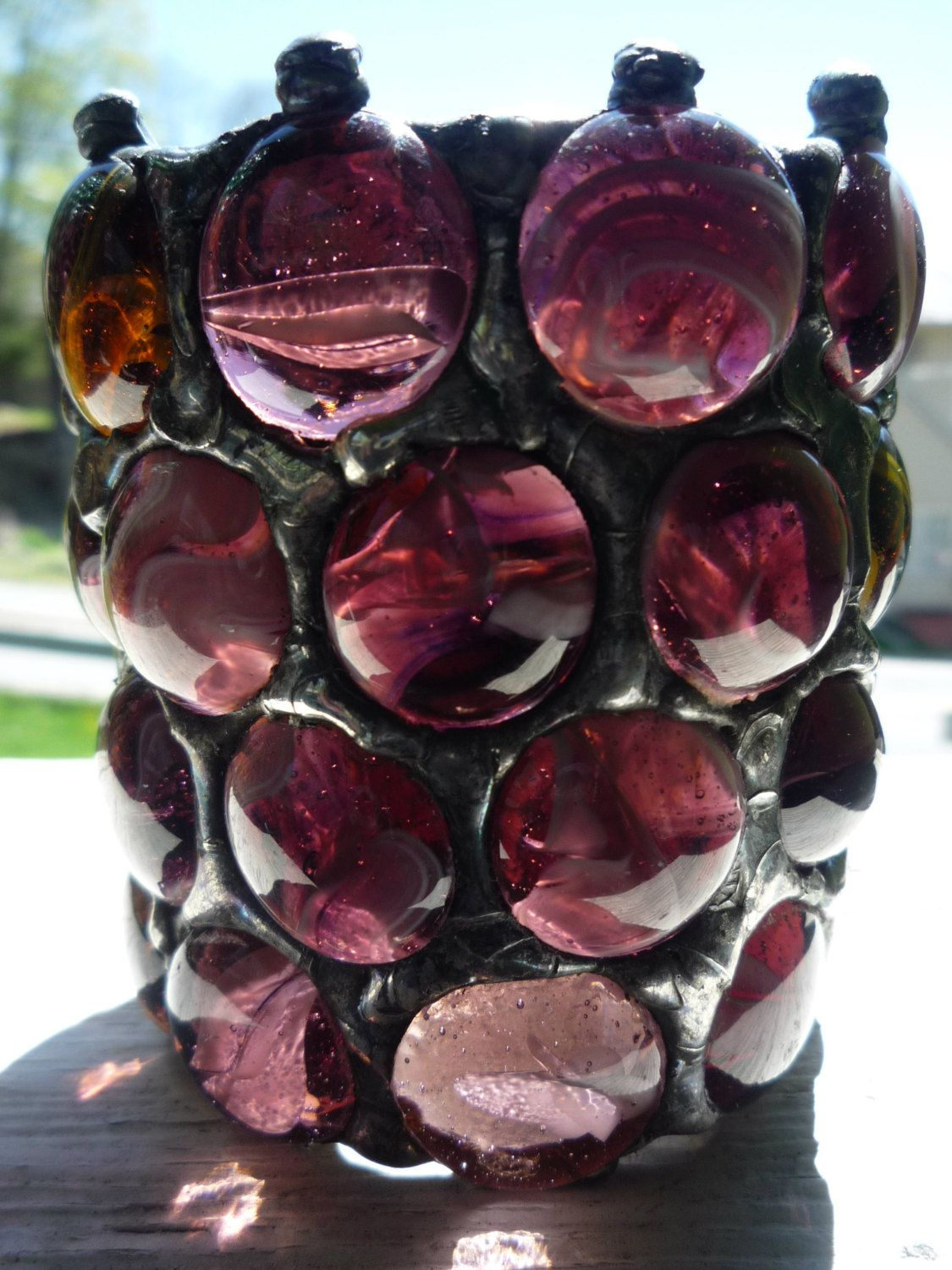 Gothic Amethyst Purple Stained Glass by MedievalLightCompany