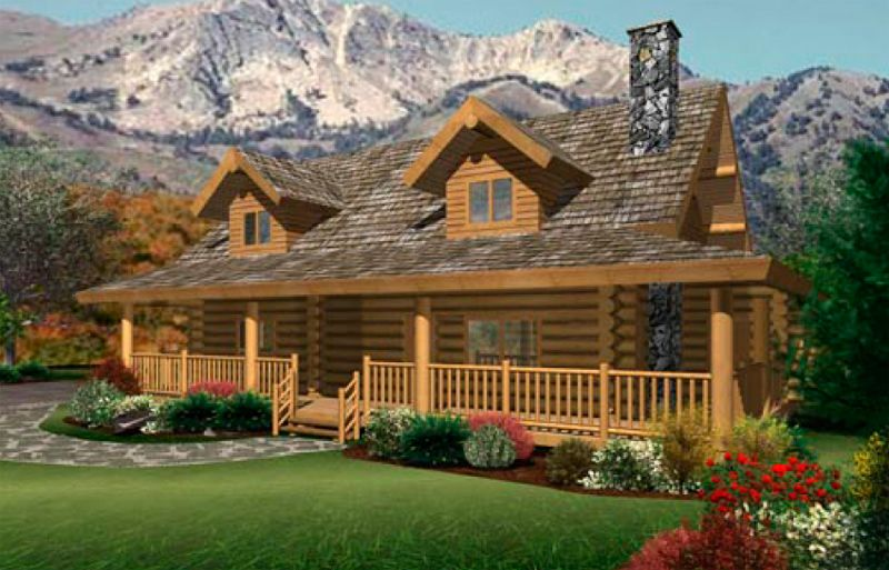Log home plans and pictures