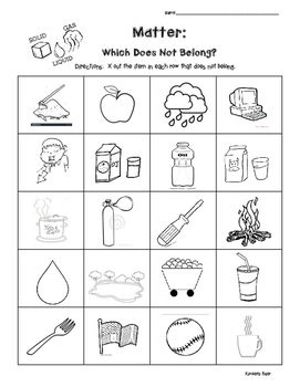 Matter And Science Solids Liquids And Gases Which Does Not Belong Critical Thinking Skills Critical Thinking Thinking Skills