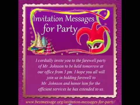 Check Out Our Best Invitation Text Messages Collection On Youtube