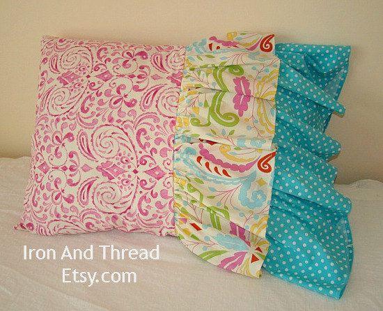 Ready To Ship. Kumari Garden Pink and Teal by IronAndThread, $28.00