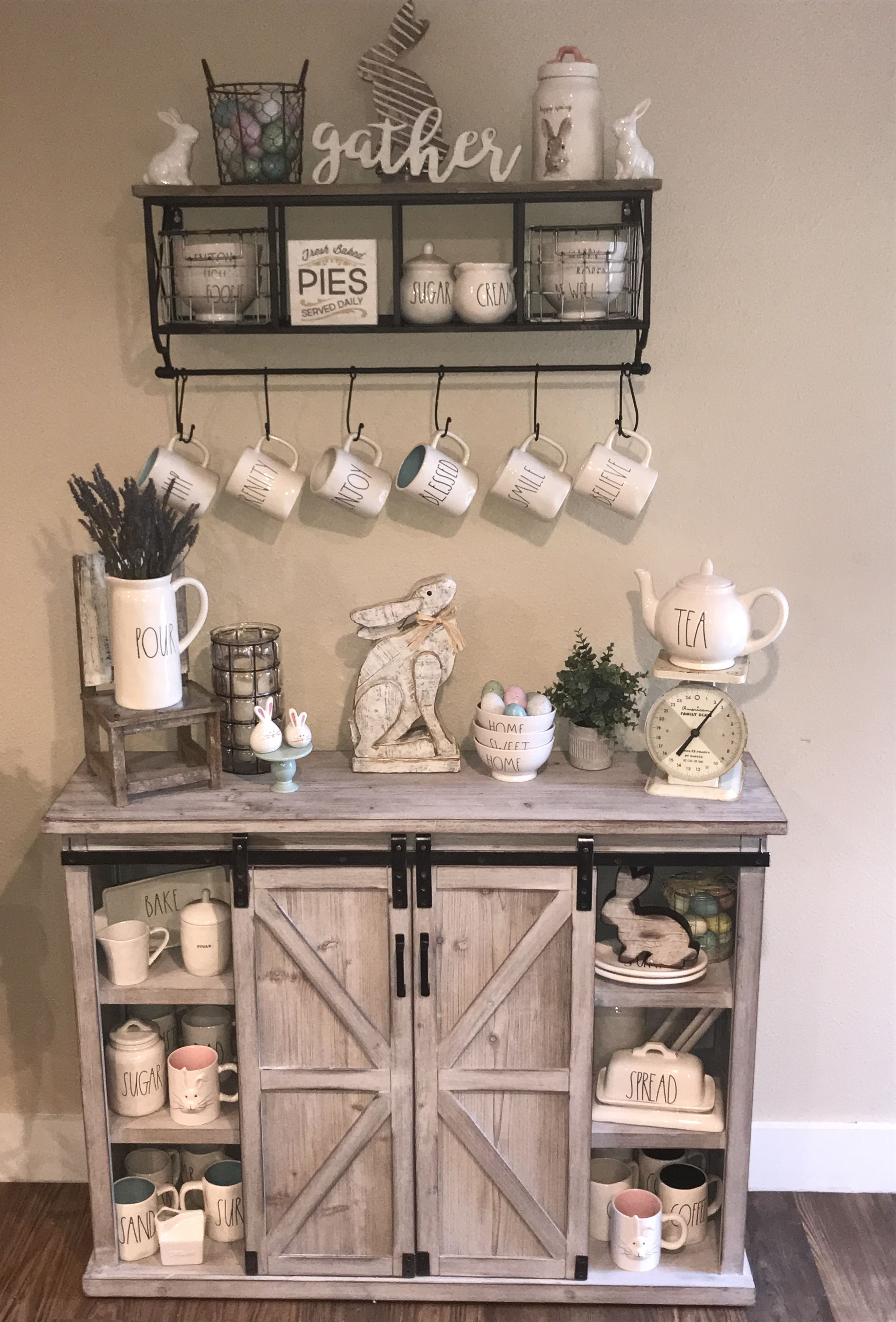Rae Dunn Easter Display Cabinet Is From Kirkland S And Top Shelf