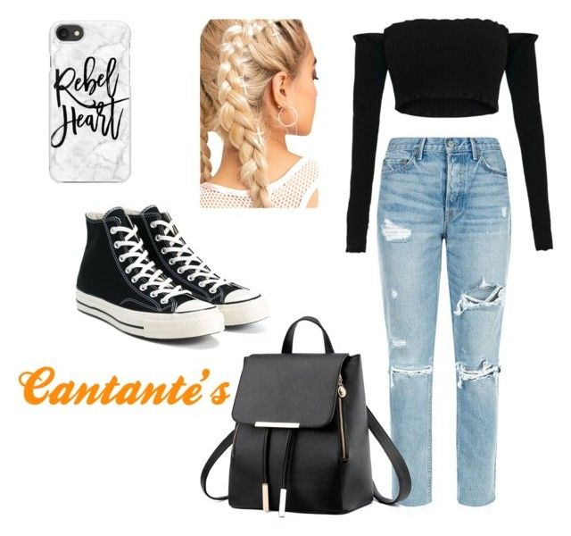 """""""Outfit #36"""" by parkeer on Polyvore featuring GRLFRND, Converse and Casetify"""