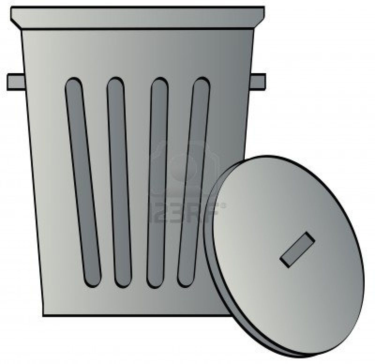 Metal Galvanized Garbage Can With Lid Vector Stock Photo Garbage Can Garbage Galvanized