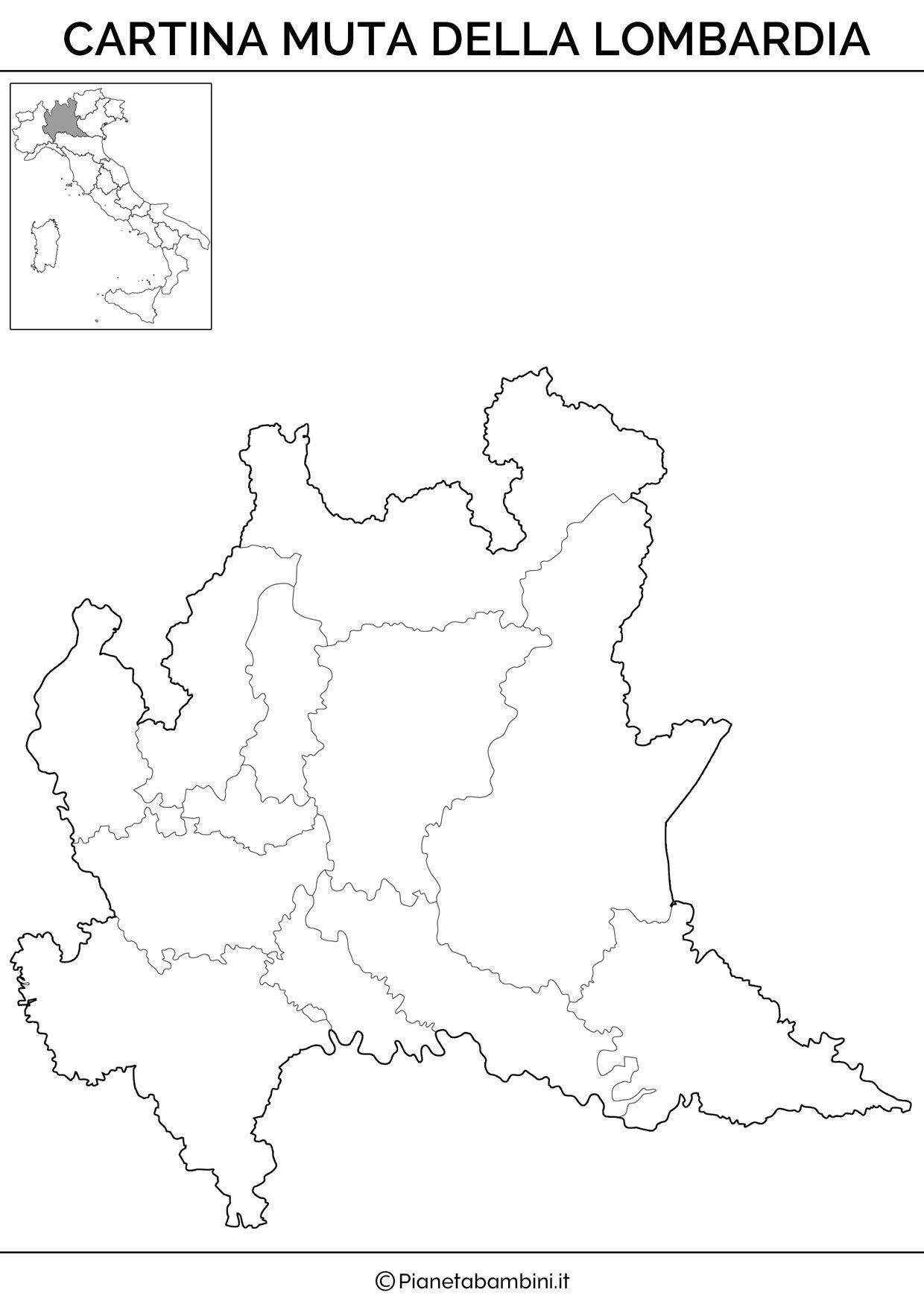 Cartina Muta Fisica E Politica Della Lombardia Da Stampare Maps