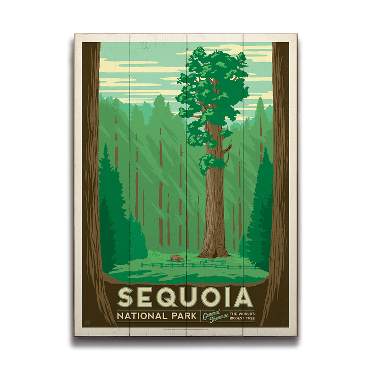 General Sherman In Sequoia National Park Art By Anderson Design Group National Park Posters Sequoia National Park Kings Canyon National Park