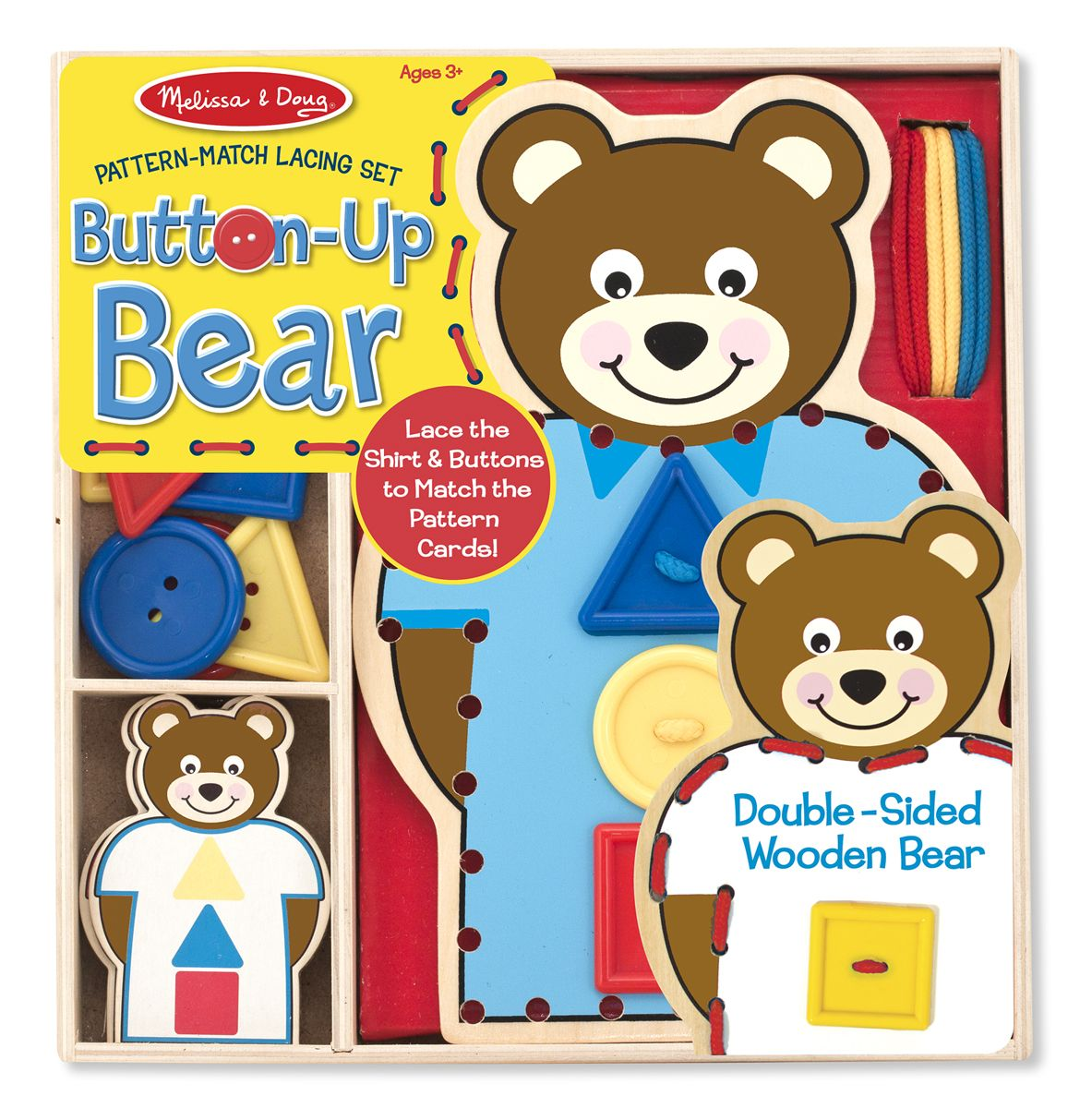 Pattern-Match Lacing Set - Button-Up Bear | Best Toys for ...