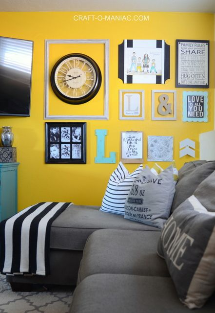 Family Room Paint Color and Gallery Wall | Gallery wall, Walls and Room