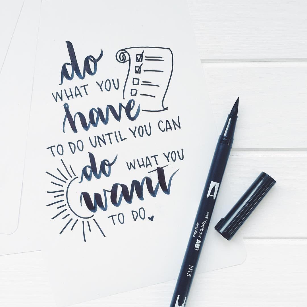 Brush Lettering With Tombow Abt Dual Brush Pen Brushlettering