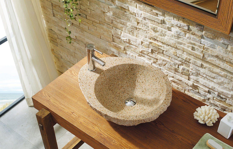 Photo of Virtu USA Elysia Natural Stone Bathroom Vessel Sink in G682 Granite