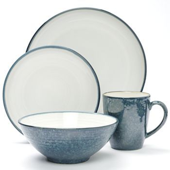 Sango Jewel Blue 16-pc. Dinnerware Set $19.99 after $10 mail in ...