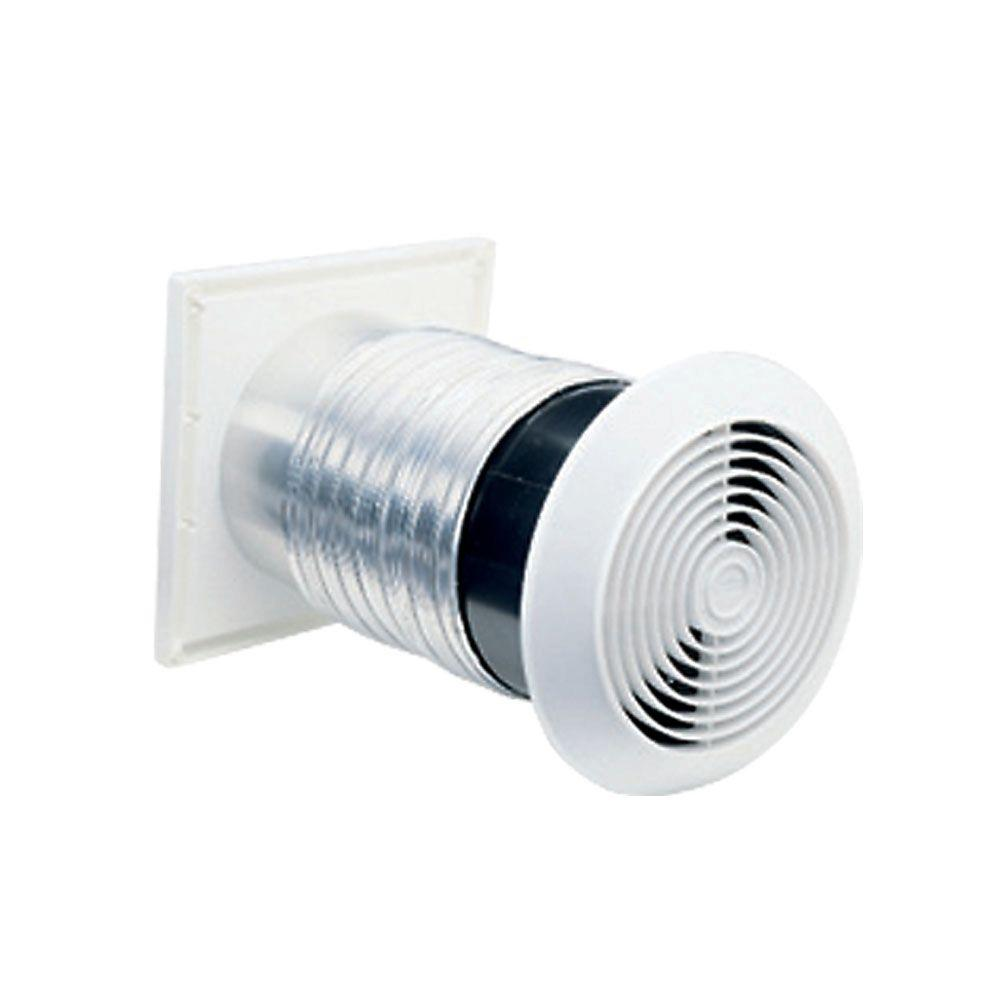 Broan 70 CFM Through-the-Wall Exhaust Fan Ventilator, White ...