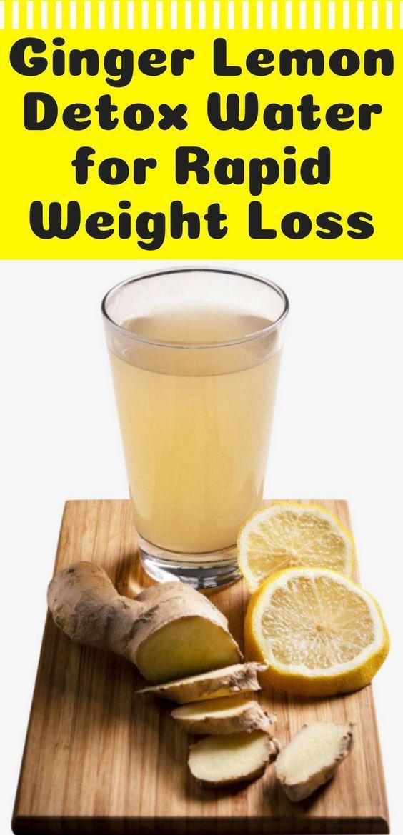 Ginger Lemon Detox Water for Rapid Weight Loss - BuzzyBerry Ginger Lemon Detox Water for Rapid Weig