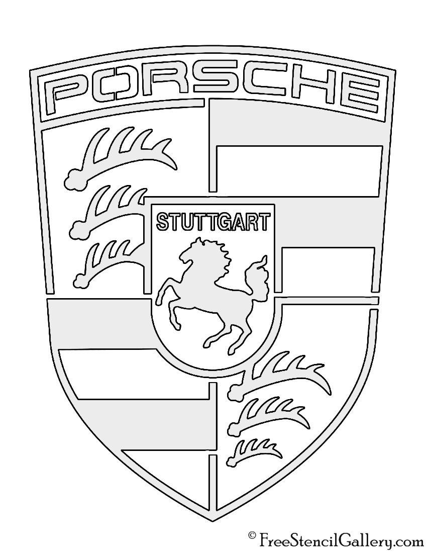 Porsche Logo Stencil Sjablonen