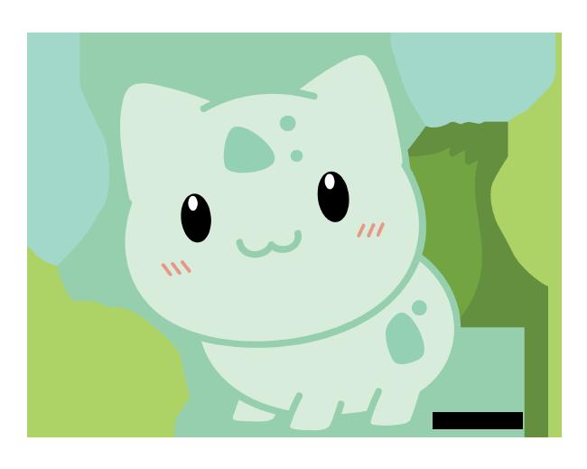 Bag Chibi Venusaur fanart cute kawaii Pokemon