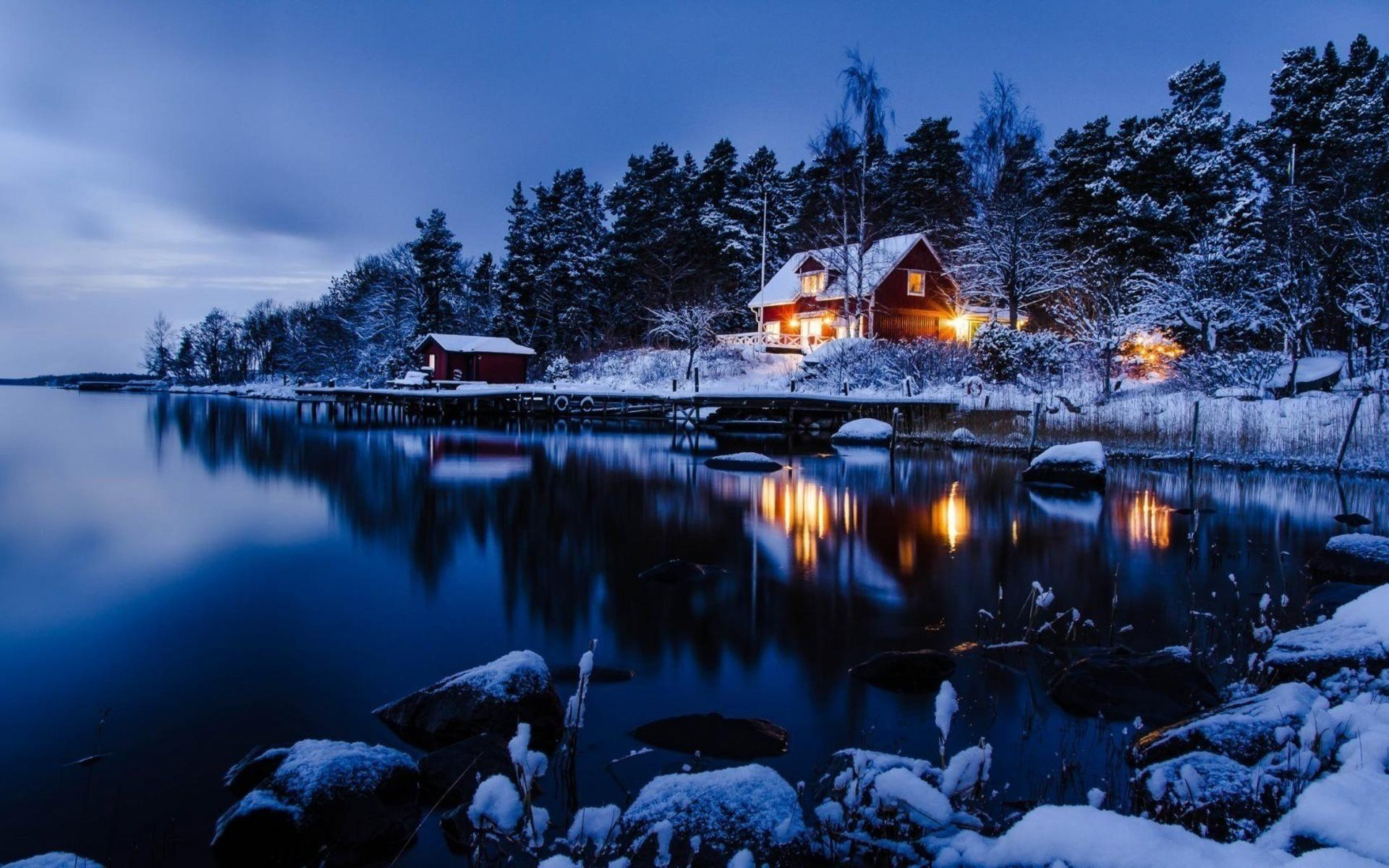 Forest Sweden House の画像検索結果 冬の風景 冬の壁紙 美しい風景