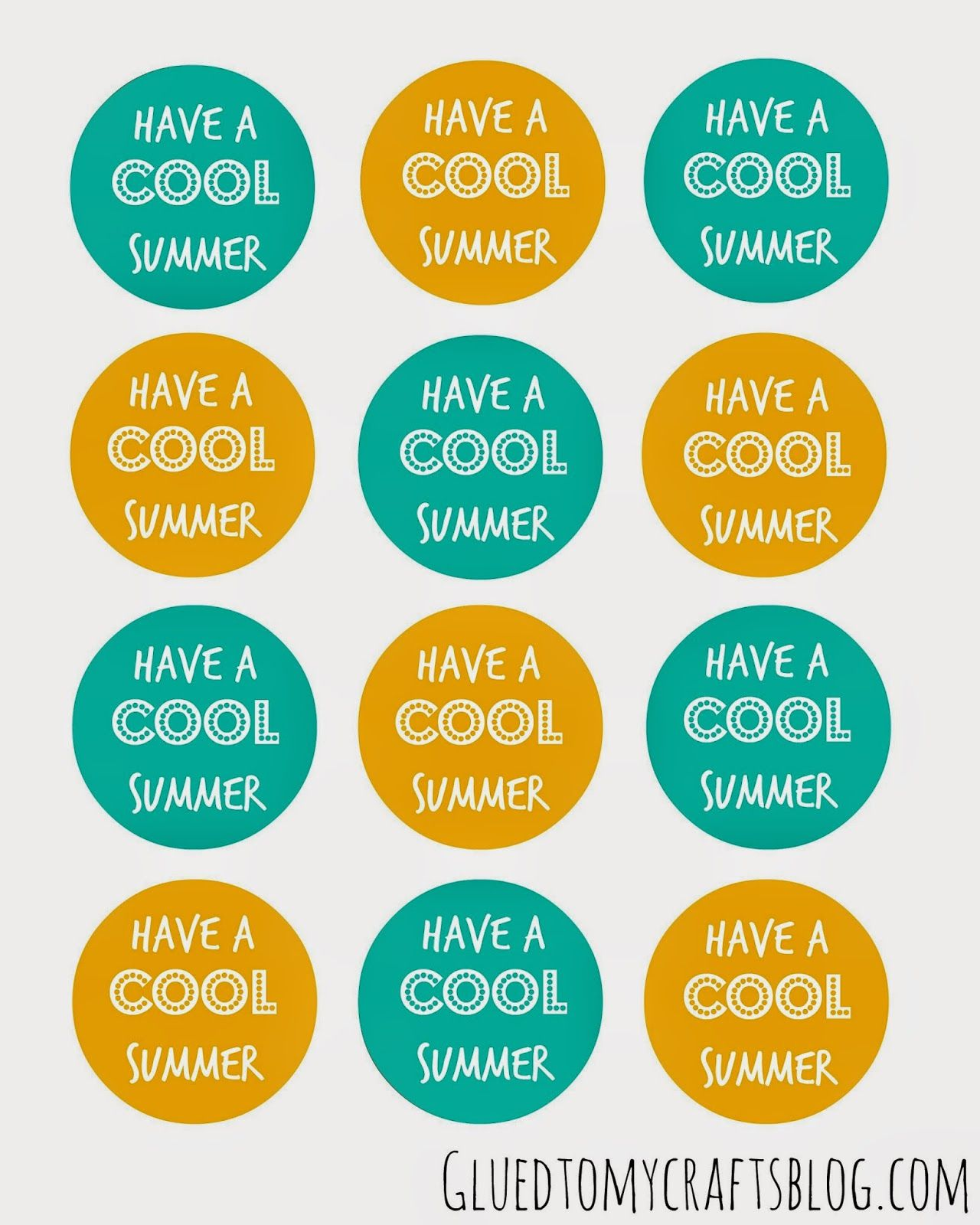 image relating to Have a Cool Summer Printable identified as Pin upon Glued Toward My Printables!