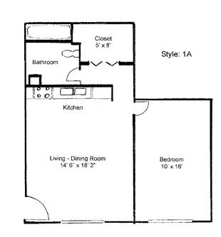17 images about floorplans on PinterestSmall apartment layout. Small 1 bedroom apartment layout
