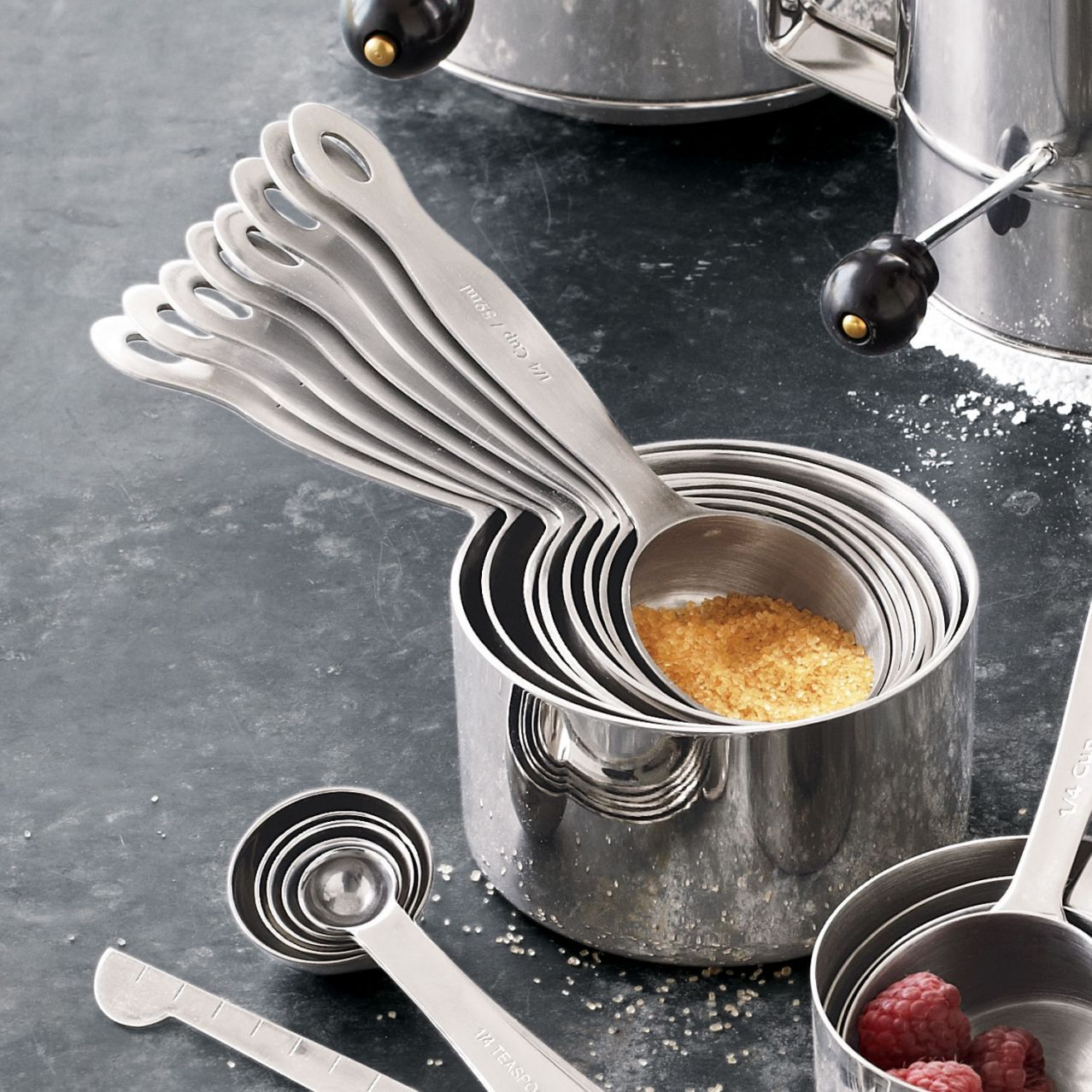 Stainless Steel Measuring Cups Set Of Eight
