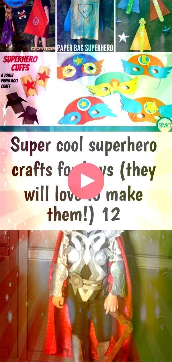 cool superhero crafts for boys they will love to make them 12 Super cool superhero crafts to get boys into making some projects These crafts are a lot of fun Try batman c...