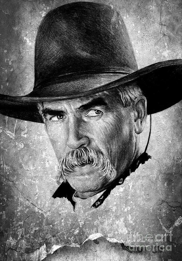 Sketchesofsam Sssh Critical Role Is: Sam Elliot Drawing By Andrew Read