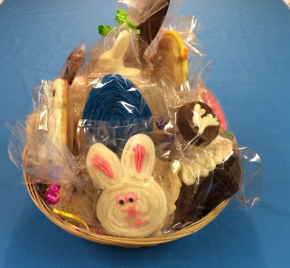 HOME MADE FILLED EASTER BASKET WITH SUGAR COOKIES/CANDY by ...