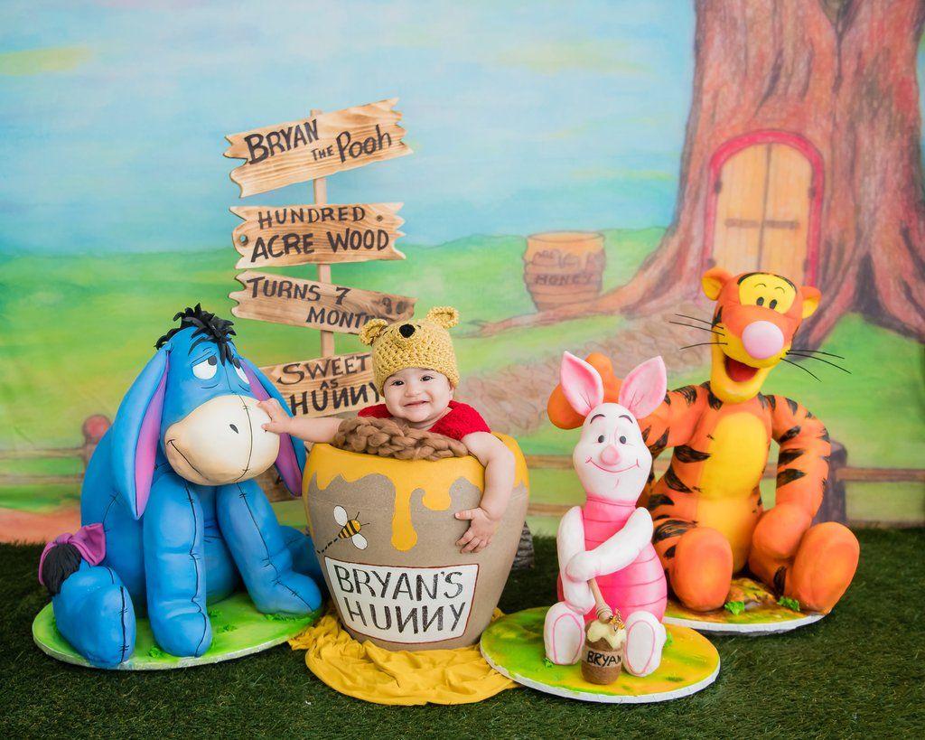 Bryans winnie the pooh tigger piglet eeyore 7 month birthday bryans winnie the pooh tigger piglet eeyore 7 month birthday party cakes filmwisefo Gallery