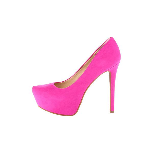 Jessica Simpson Jasmint High Heels, Pink ($36) ❤ liked on Polyvore featuring shoes, pumps, high heel pumps, platform slip on shoes, platform shoes, pink high heel pumps and slip on shoes