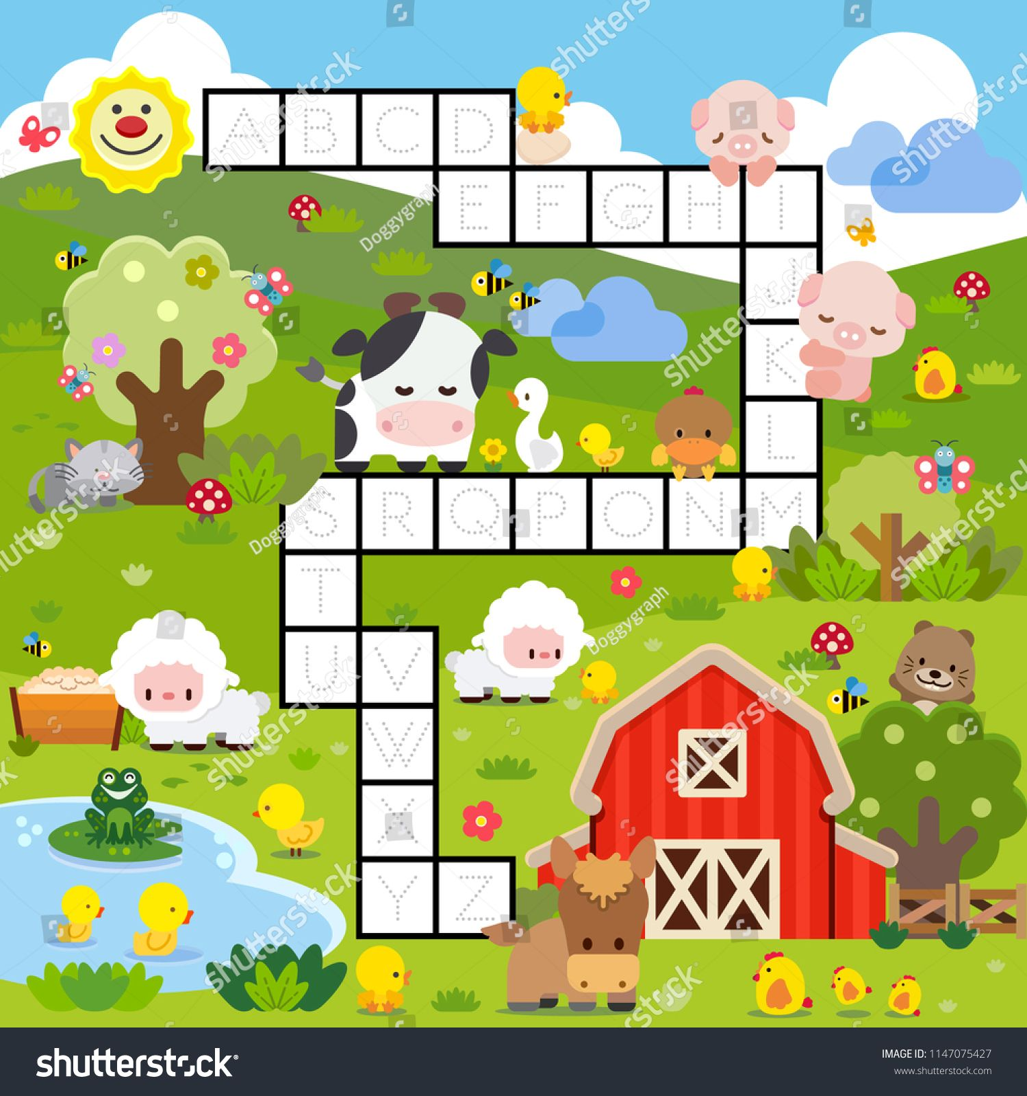 Alphabet A Z Tracing Worksheet With English Education Game