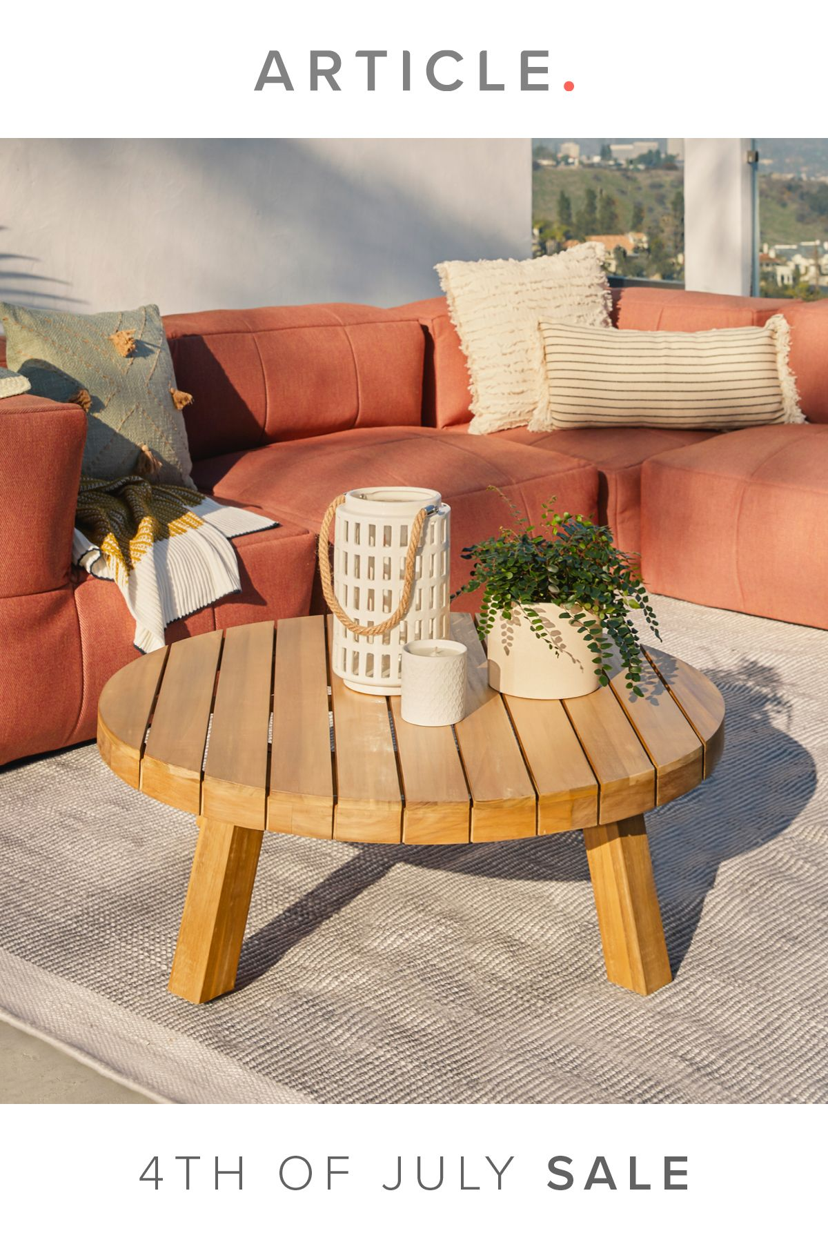 Koel Natural Wood Coffee Table Minimalist Home Interior Small Patio Decor Natural Wood Coffee Table [ 1800 x 1200 Pixel ]
