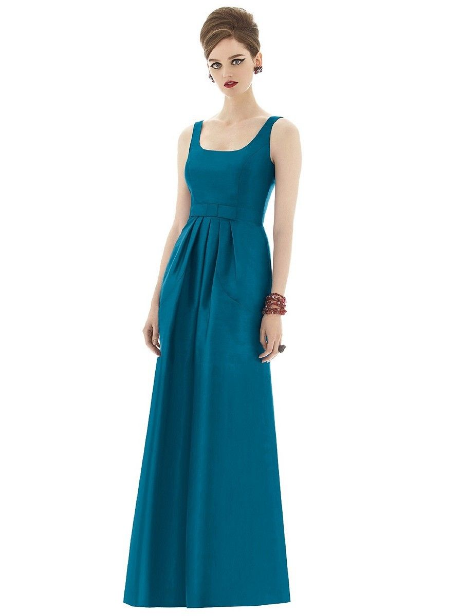 Twin shoulder straps support the slim a line silhouette of dessy twin shoulder straps support the slim a line silhouette of dessy alfred sung d649 bridesmaid ombrellifo Choice Image