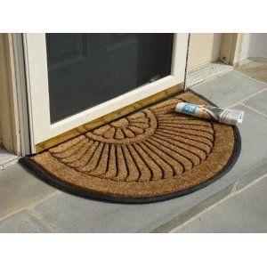 Coco Fiber Half Round In Laid Doormat 24 X 39 Inch By William F Kempf Cocomats 29 95 Long Lasting Heavy D Outdoor Door Mat Biodegradable Products Door Mat
