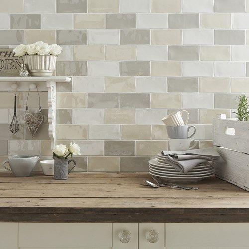 Craquele Kitchen Pinterest Glazed Tiles Kitchens And Wall Tiles - Metro fliesen craquele