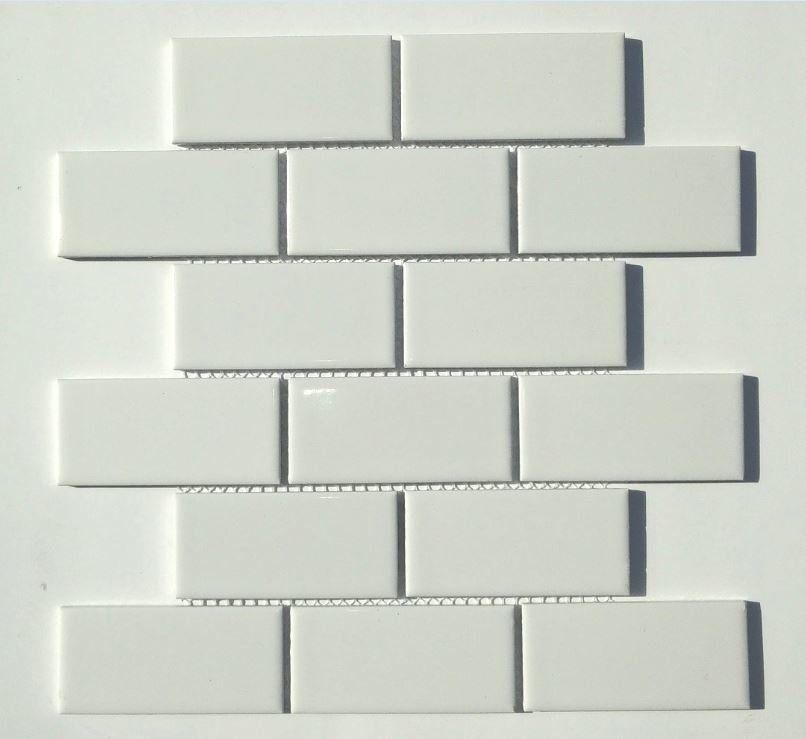 Classique 2 X 4 Porcelain Subway Tile In White Bath Project