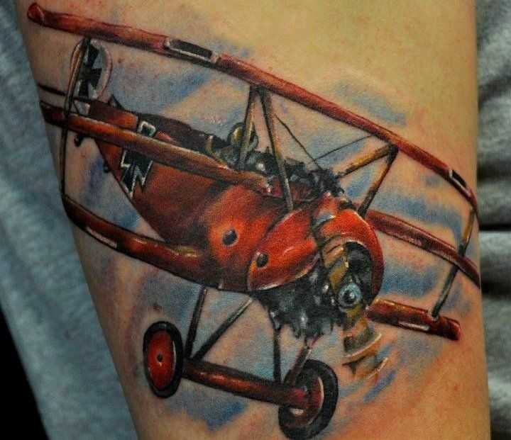 Airplane tattoo designs red baron tattoos pinterest for Red baron tattoo