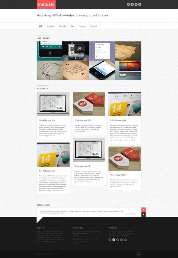 Realin Minimal WordPress Theme - PSD - Freebies | Minimal, Wordpress ...