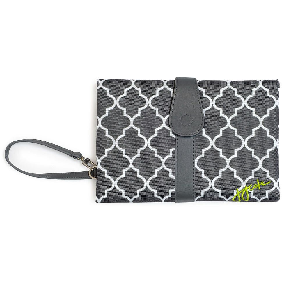 Portable Changing Pads Jj Cole Clutch In Stone Arbor At Baby This Sleek Unfolds To A Padded Wipeable Area