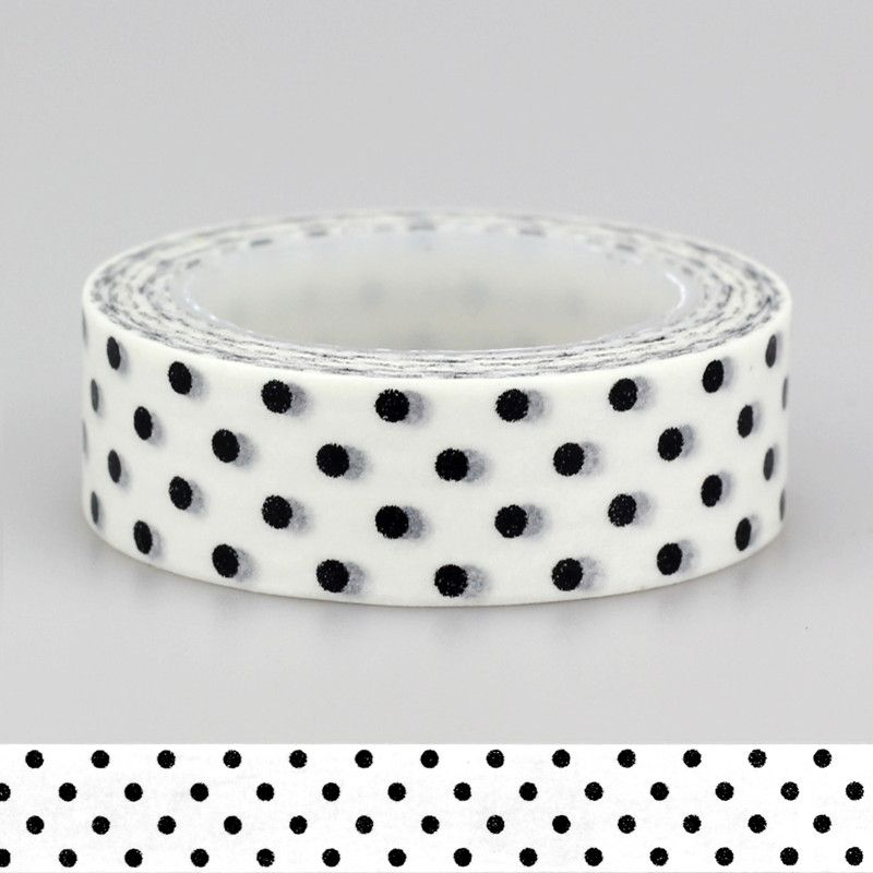 Adhesive Tape Solid Plain Color Black White dots set Print Scrapbooking DIY Craft Sticky Deco Masking Japanese Paper Washi Tape-in Office Adhesive Tape from Office & School Supplies on Aliexpress.com | Alibaba Group